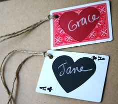 recycle playing cards into gift tags