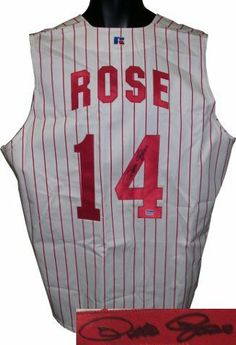 "Pete Rose signed Cincinnati Reds Russell Athletic Authentic Jersey Vest . $306.09. Pete Rose won three World Series rings, three batting titles, one Most Valuable Player Award, two Gold Gloves, the Rookie of the Year Award, and made 17 All-Star appearances at an unequaled five different positions (2B, LF, RF, 3B, and 1B). Rose's nickname, Charlie Hustle, was given to him for his play beyond the ""call of duty"" while on the field. Pete Rose has hand autographed this Cincinna..."