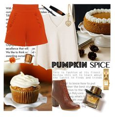 """""""Sweet pumpkin spice"""" by dawn-sbh ❤ liked on Polyvore featuring Tiffany & Co., Maybelline, Rimmel, MANGO, Finders Keepers, Timberland, Tory Burch, Burberry, contest and cakes"""
