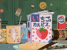 Imagem de anime, food, and strawberry