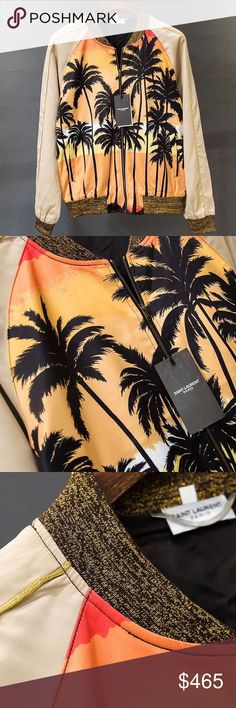YSL sunset palm tree jacket New with tags. Authentic. Price is firm Yves Saint Laurent Jackets & Coats Bomber & Varsity