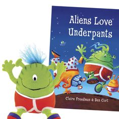 Aliens Love Underpants Book and Doll  Item #: Y112070X  Price: $27.95
