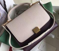 Celine Collection Outlet-Celine Trapeze Bag with GREEN+BLACK