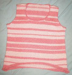 This lightweight summer top I made in 2012 is made of mercerized cotton. Mercerized cotton is processed to make it shiny and absorbent. Tank Man, Knitting, Summer, Mens Tops, How To Make, Cotton, Fashion, Moda, Summer Time