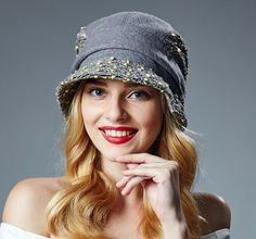 Casual womens beret hat for winter wool bucket hats