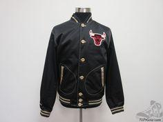 Mitchell & Ness Chicago Bulls SEWN Satin Jacket sz L Large NBA NWT Black M&N #MitchellNess #ChicagoBulls #tcpkickz