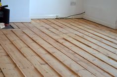 Pine Floors - gap filling with slivers - placed then shaved off