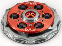EVR anti-clank vented cover.   Anti clank vented cover in light alloy  for all Ducati dry clutch models specifically designed to eliminate the annoying clanking effect coming from the clutch when the bike is leaving. Patented system.