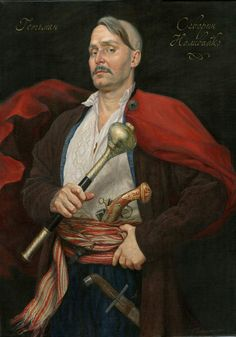 Severyn Nalyvaiko was a leader of the Ukrainian Cossacks who became a hero of Ukrainian folklore. He led the Nalyvaiko Uprising. /Атаман Северин Наливайко. Художник Наталья Павлусенко.