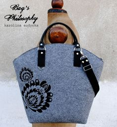 """Shopper Bag """"Łowicz na Mazurach szuka jesieni;-)  #niezchinzpasji"""