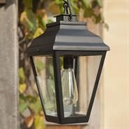 A classic #outdoor #light with simple clean lines lines ...the Hackney Outdoor Lantern - Chain Mounted made by Jim Lawrence