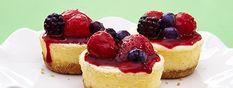 Cheesecake de Yoghurt Estilo Griego con Topping de Frutos del Bosque .