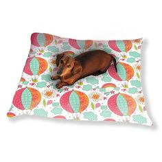Uneekee Bunny Balloon Ride Dog Pillow Luxury Dog / Cat Pet Bed