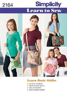 Simplicity Sewing Pattern 2164 Learn to Sew Bags by Simplicity, http://www.amazon.co.uk/dp/B00584VFZC/ref=cm_sw_r_pi_dp_PEwFsb0DNYMEC