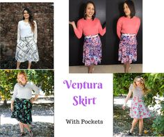 Honey and Lace Ventura Skirt with Pockets