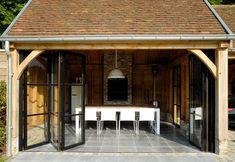 KLASSIEK Backyard Studio, Backyard Retreat, Pergola, Porch Veranda, Garden Buildings, House Windows, Cottage Design, Pool Houses, Garden Styles