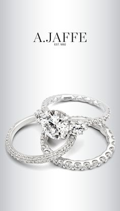 A.JAFFE Quilted Collection Engagement Rings and Wedding Band. See them at http://www.ajaffe.com/engagement-rings