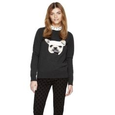 French bulldog sweater Cute French bulldog sweater Joe Fresh Sweaters Crew & Scoop Necks