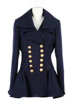 Chic Alexander McQueen #peplum #jacket with #military accents. #fallfashion (via @Vogue www.vogue.com)