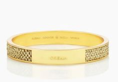 Gifts that give back: Gold friendship bracelet from Kate Spade on purpose collection