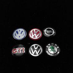 14mm Chiave di marchio Dell'automobile Dell'emblema Autoadesivo del tasto per Volkswagen VW POLO Tiguan Passat B5 B6 B7 Golf MK6 EOS Scirocco Jetta MK5 MK6 OPEL