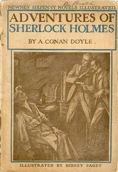 michaelmoonsbookshop:  The Adventures of Sherlock Holmes by Arthur Conan Doyle Rare sixpenny novel [softback] edition. c1910