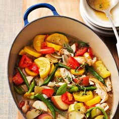 Vegetable Garden Soup with Turkey - I would use chicken but this looks delicious!