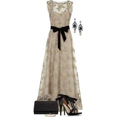 A fashion look from August 2013 featuring brown dress, black sandals and black handbags. Browse and shop related looks.
