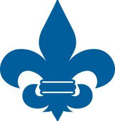 Cub Scout Blue Fleur De Lis clip art - vector clip art online ...