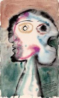 Portrait à deux visages by Victor Brauner