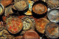 Rusty Bottle Caps- looks like you MOM!