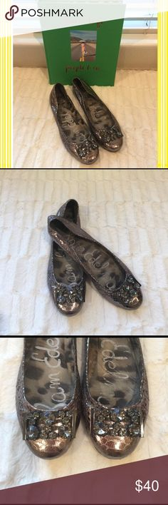 9b1b75f72d8c Sam Edelman jeweled flats in gunmetal Super cute Sam Edelman jeweled flats  gunmetal. Worn a