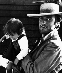 Clint Eastwoord on the set of The Good, the Bad and the Ugly