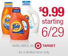 Target: *HOT* Tide Detergent 50oz Bottle as Low as $1.99 Starting June 29th (Print Coupons Now) – Hip2Save