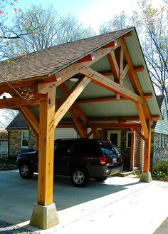 While restoring their Homesteads house to its original condition, they needed an attractive covered area beside the home to park their vehicles. She had admired timber frame structures in magazines so knew we could provide exactly what she had in mind when she found out our shop was just around the corner...
