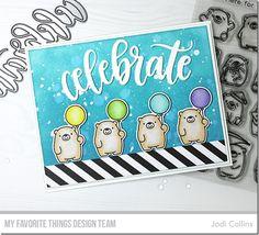 Stamps: Bitty Bears Die-namics: Bitty Bears, Celebrate  Jodi Collins #mftstamps