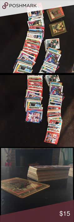 Well over 100 old baseball cards. They are in great condition. There's well over 100 old baseball cards. This is an item that is perfect for a baseball enthusiast and someone that likes to collect old baseball cards. Other
