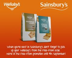When you're next in Sainsbury's don't forget to pick up your Wellaby's from the Free From aisle!