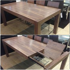 Walnut Extendable Dining Table With Butterfly Leave On Display At Furniture  Toronto | Showroom: 700
