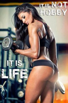 Best Female Fitness Motivation Pictures | Working Out is not a Hobby - It is Life #FemaleFitnessModels