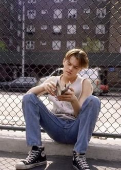 Fresh faced Leonardo DiCaprio wears Converse in one his earliest film roles in The Basketball Diaries