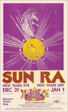 31.12.1973 - 1.1.1974; sun ra; usa, ann arbor; king pleasure; (db)