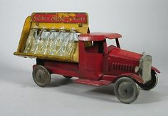 1930s Metalcraft Pressed Steel Coca Cola Truck w Orig Glass Coke Bottles Orig | eBay