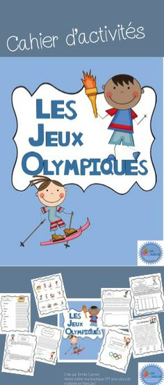 Cahier d'activités sur les jeux olympiques d'hiver French Teacher, Teaching French, How To Speak French, Learn French, Youth Olympic Games, Learning A Second Language, Core French, French Education, French Classroom