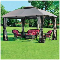 Just bought this gazebo and a grill tent to match for the house. Love it.