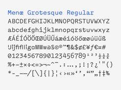 Menoe Grotesque typeface. http://hungarumlaut.com/typefaces/menoe.html