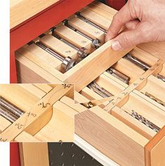 Drill Bit Trays: Keeping track of drill bits in the shop can be like herding cats. This is a simple way to keep track of all them in one place. Woodworking Hand Tools, Beginner Woodworking Projects, Router Woodworking, Woodworking Workshop, Woodworking Supplies, Woodworking Ideas, Woodworking Quotes, Woodworking Patterns, Woodworking Classes