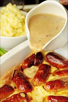 Toad in a Hole (with onion gravy)