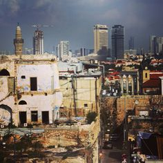 View of Tel Aviv from by Laura Lee Burch Tel Aviv, Laura Lee, Israel, Times Square, Arch, Old Things, History, City, Building