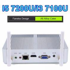EGLOBAL Fanless Nuc Core i5 7200U i3 7100U DDR3L Memory Mini PC Linux Windows 10 Graphics HD 620/520 4K HTPC HDMI VGA Computer  Price: 218.00 & FREE Shipping  #tech|#electronics|#gadgets|#lifestyle Pc Installation, Xbmc Kodi, Mapping Software, Memory Storage, Wifi Antenna, Hdmi Cables, Media Center, Windows 10, Linux
